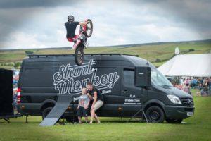 Stunt monkey van