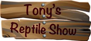 Tonys reptile show logo